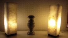 Светильник из оникса с подсветкой.
